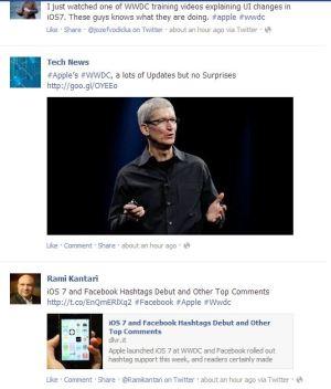 hashtag, facebook, Twitter, Apple, Apple WWDC, wwdc 2013
